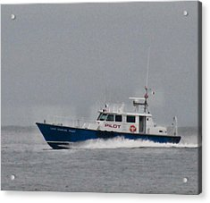 Pilot Boat Acrylic Print by Bill Perry