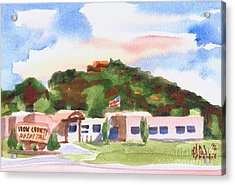 Acrylic Print featuring the painting Pilot Knob Mountain W401  by Kip DeVore