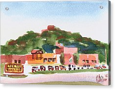 Acrylic Print featuring the painting Pilot Knob Mountain W402 by Kip DeVore