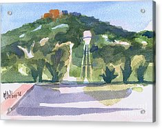 Acrylic Print featuring the painting Pilot Knob Mountain W404 by Kip DeVore
