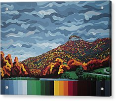 Pilot Mountain Fall Acrylic Print