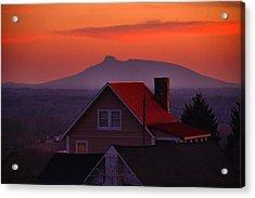 Pilot Sunset Overlook Acrylic Print by Kathryn Meyer