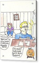 Pilots Lounge Halloween Acrylic Print