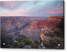 Pima Point Sunset Acrylic Print by Mike Buchheit