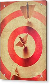 Pin Plane Darts Hitting Goals Acrylic Print by Jorgo Photography - Wall Art Gallery