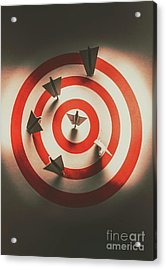 Pin Point Your Target Audience Acrylic Print by Jorgo Photography - Wall Art Gallery