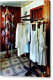Pinafores And Bonnets In General Store Acrylic Print by Susan Savad