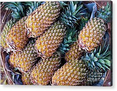 Acrylic Print featuring the photograph Pinapples by Tim Gainey