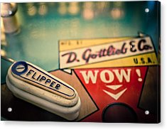 Pinball - Wow Acrylic Print by Colleen Kammerer