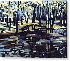 Pine Barrens Acrylic Print by Doris  Lane Grey