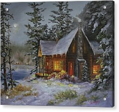 Pine Cove Cabin Acrylic Print