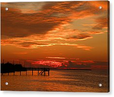 Acrylic Print featuring the photograph Pine Island Sunset by Rosalie Scanlon