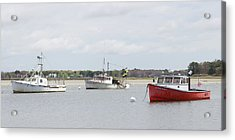 Acrylic Print featuring the photograph Pine Point Boats by Kirkodd Photography Of New England