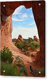 Acrylic Print featuring the photograph Pine Tree Arch In Utah 02 by Bruce Gourley