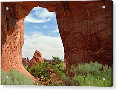 Acrylic Print featuring the photograph Pine Tree Arch In Utah by Bruce Gourley