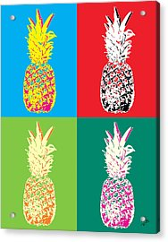 Pineapple 33 Acrylic Print by Flo Ryan