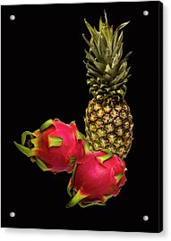 Acrylic Print featuring the photograph Pineapple And Dragon Fruit by David French