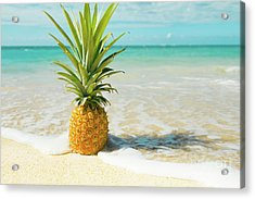 Acrylic Print featuring the photograph Pineapple Beach by Sharon Mau