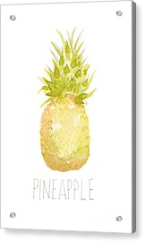 Acrylic Print featuring the painting Pineapple by Cindy Garber Iverson