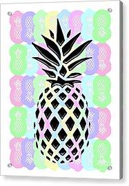 Pineapple Collage Acrylic Print by Liesl Marelli