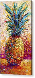 Pineapple Expression Acrylic Print by Marion Rose