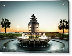 Pineapple Fountain, Charleston Acrylic Print
