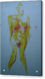Pineapple In Process Acrylic Print by Dean Corbin