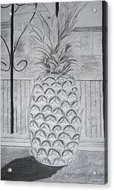 Pineapple In Window Acrylic Print