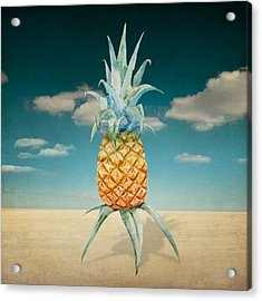 Pineapple  Acrylic Print by Mark Ashkenazi