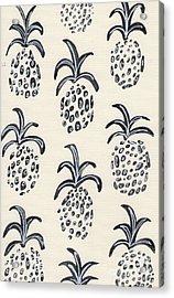 Pineapple Print Acrylic Print by Anne Seay