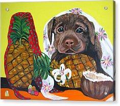 Pineapple Puppy Acrylic Print