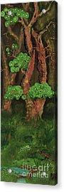 Pines By The Brook Acrylic Print by Anna Folkartanna Maciejewska-Dyba