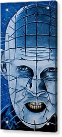 Acrylic Print featuring the painting Pinhead Up Close And Personal  by Al  Molina