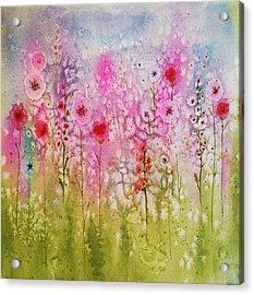 Pink Abstract Acrylic Print