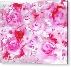 Pink Abstract Floral Acrylic Print