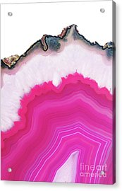 Pink Agate Acrylic Print by Emanuela Carratoni