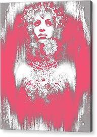 Pink Akasha Acrylic Print by Michael Gibbs