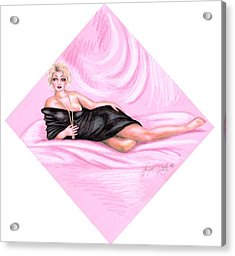 Pink Allure Acrylic Print by Scarlett Royal