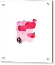Pink And Black Abstract Acrylic Print