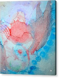Pink And Blue Acrylic Print by Paula Deutz