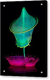 Pink And Green Composition Acrylic Print by Jaroslaw Blaminsky