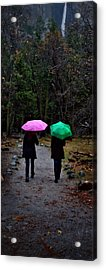 Pink And Green Acrylic Print by Josephine Buschman