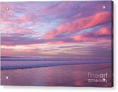 Pink And Lavender Sunset Acrylic Print