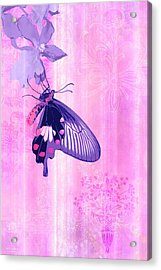 Pink And Purple Companions 1 Acrylic Print by JQ Licensing