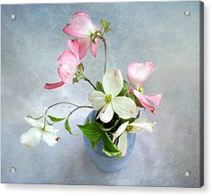 Pink And White Dogwood Still Acrylic Print