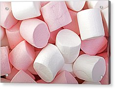 Pink And White Marshmallows Acrylic Print by Jane Rix
