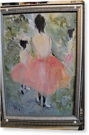 Pink Ballet Acrylic Print by Les Smith