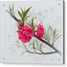 Acrylic Print featuring the painting Hot Pink Blossom by Ivana Westin