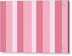 Acrylic Print featuring the mixed media Pink Blush Stripe Pattern by Christina Rollo