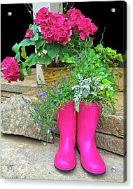 Pink Boots Acrylic Print